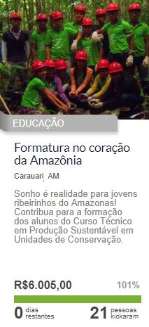 Vaquinha Online para Formatura - Campanha Amazônia