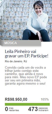 Vaquinha Online para Músicos - Campanha Leila Pinheiro